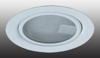 Встраиваемый неповоротный светильник с защитным стеклом (лампа в комплекте) FLAT 369344