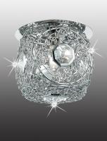 Декоративный встраиваемый неповоротный светильник LACE 369513