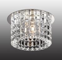 Декоративный встраиваемый неповоротный светильник VETRO 369517