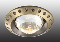 Декоративный встраиваемый неповоротный светильник GLAM 369645